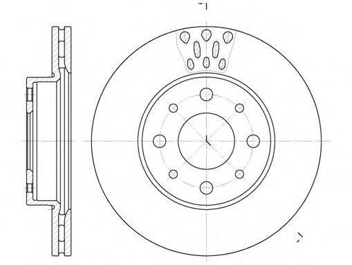 REMSA 651710 Тормозной диск