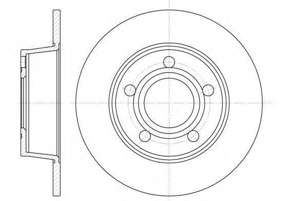 REMSA 672400 Тормозной диск