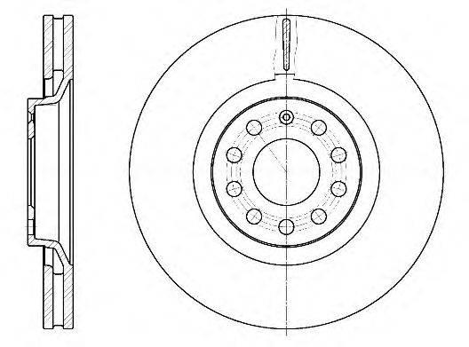 REMSA 673010 Тормозной диск