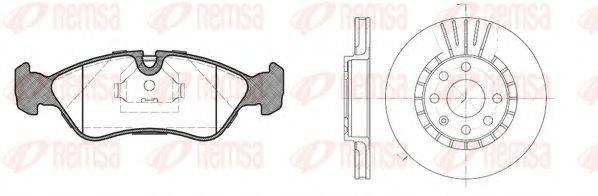 REMSA 828600 Комплект тормозов, дисковый тормозной механизм