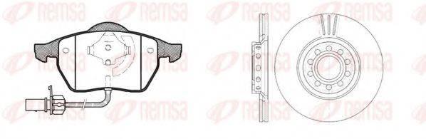 REMSA 839007 Комплект тормозов, дисковый тормозной механизм