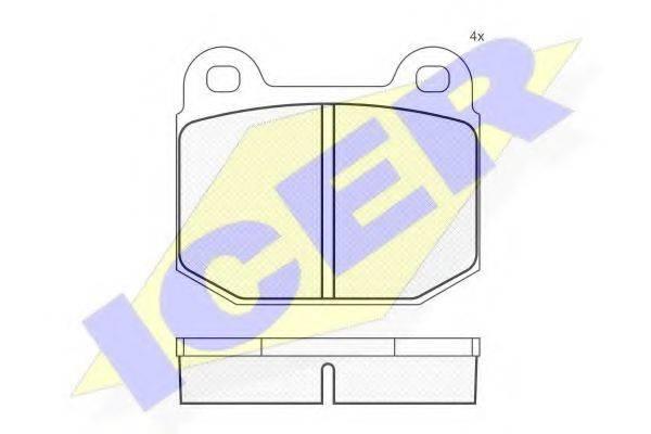 ICER 180170 Комплект тормозных колодок, дисковый тормоз