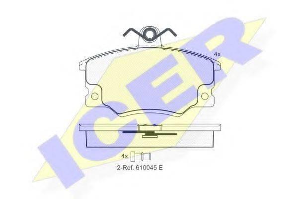 ICER 180415 Комплект тормозных колодок, дисковый тормоз