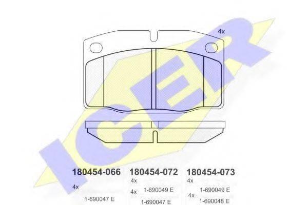 ICER 180454 Комплект тормозных колодок, дисковый тормоз