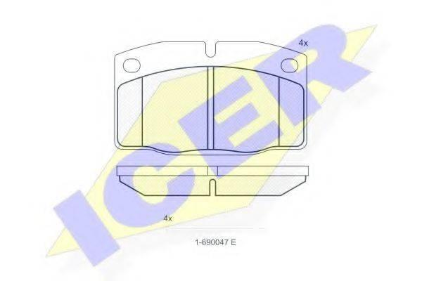 ICER 180454066 Комплект тормозных колодок, дисковый тормоз