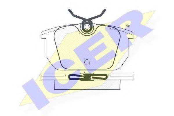ICER 180674 Комплект тормозных колодок, дисковый тормоз