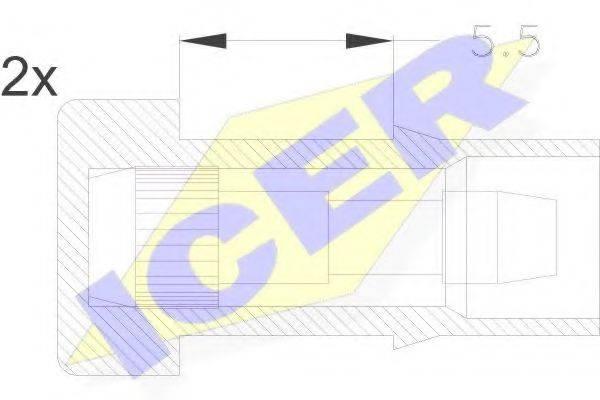 ICER 610045EC Сигнализатор, износ тормозных колодок
