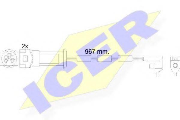 ICER 610069EC Сигнализатор, износ тормозных колодок