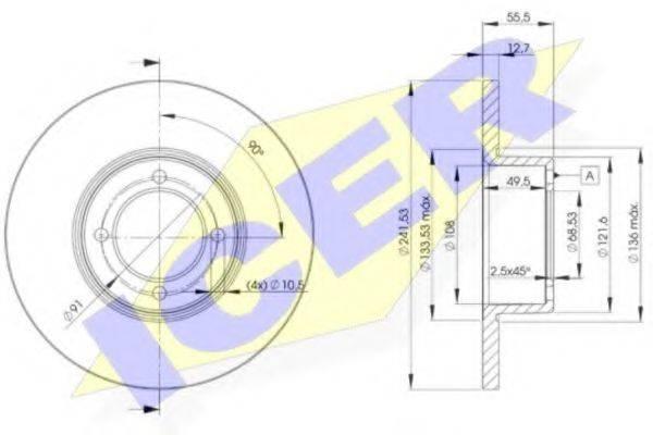 ICER 78BD07512 Тормозной диск