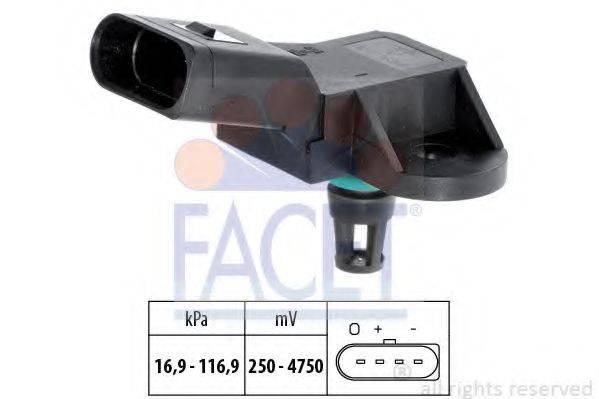 FACET 103226 Датчик давления воздуха, высотный корректор; Датчик, давление во впускном газопроводе
