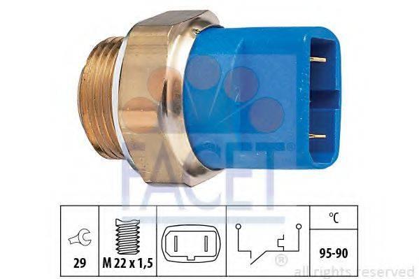 FACET 75032 Термовыключатель, вентилятор радиатора