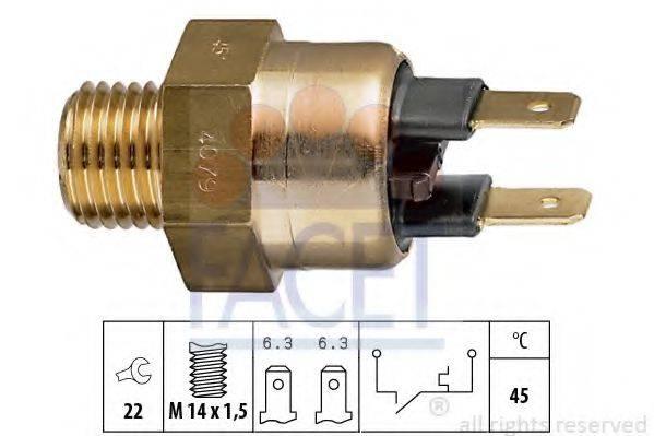 FACET 74079 термовыключатель, сигнальная лампа охлаждающей жидкости