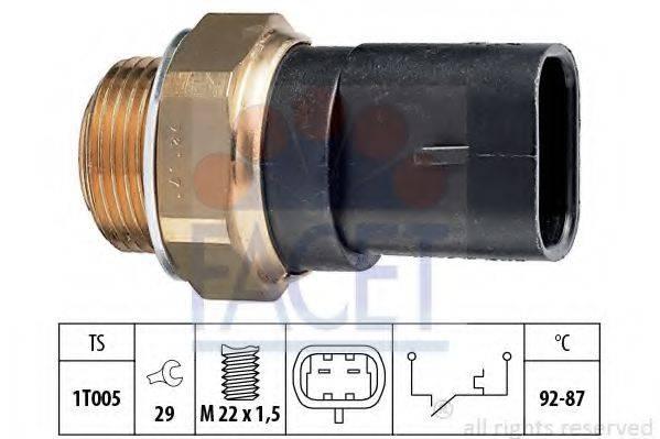FACET 75031 Термовыключатель, вентилятор радиатора