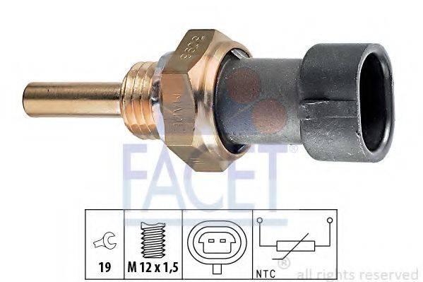 FACET 73098 Датчик, температура масла; Датчик, температура охлаждающей жидкости