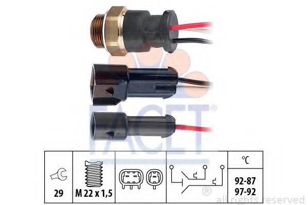 FACET 75610 Термовыключатель, вентилятор радиатора