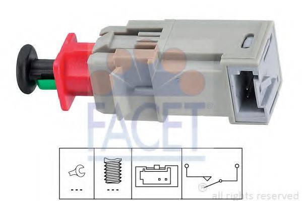 FACET 71207 Выключатель, привод сцепления (Tempomat)