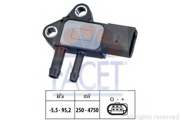 FACET 103297 Датчик давления воздуха, высотный корректор; Датчик, давление во впускном газопроводе
