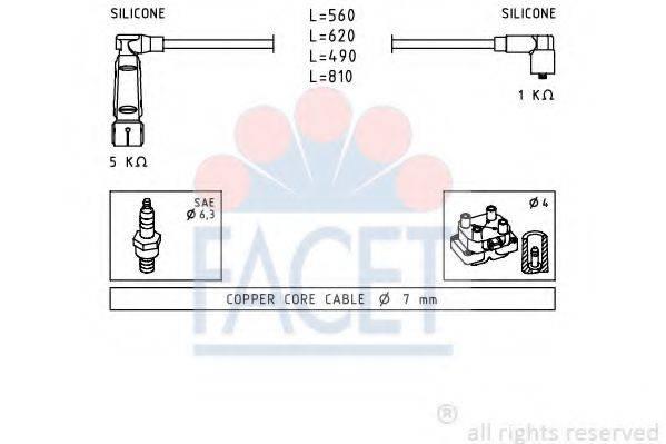 FACET 49350 Комплект проводов зажигания