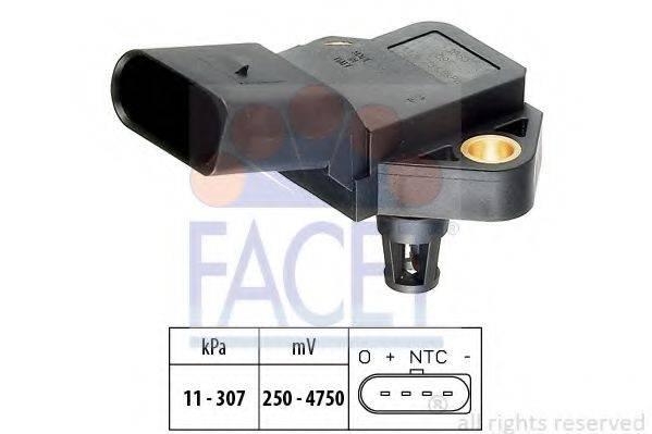 FACET 103075 Датчик давления воздуха, высотный корректор; Датчик, давление во впускном газопроводе