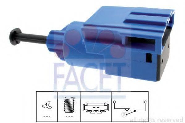 FACET 71220 Выключатель, привод сцепления (Tempomat)