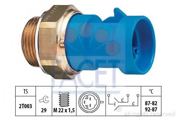 FACET 75622 Термовыключатель, вентилятор радиатора