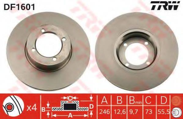 TRW DF1601 Тормозной диск