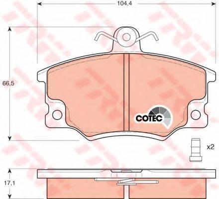 TRW GDB458 Комплект тормозных колодок, дисковый тормоз