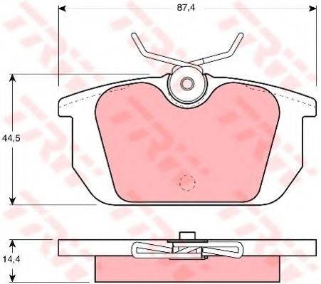 TRW GDB466 Комплект тормозных колодок, дисковый тормоз