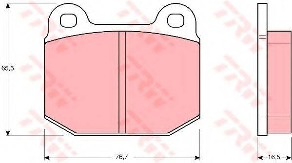 TRW GDB611 Комплект тормозных колодок, дисковый тормоз