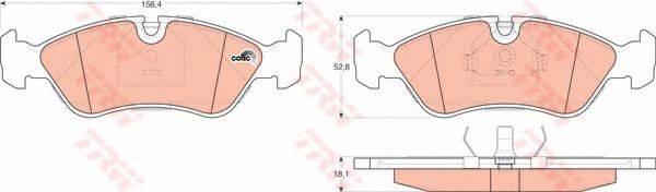 TRW GDB951 Комплект тормозных колодок, дисковый тормоз