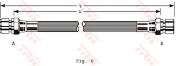 TRW PHA129 Тормозной шланг