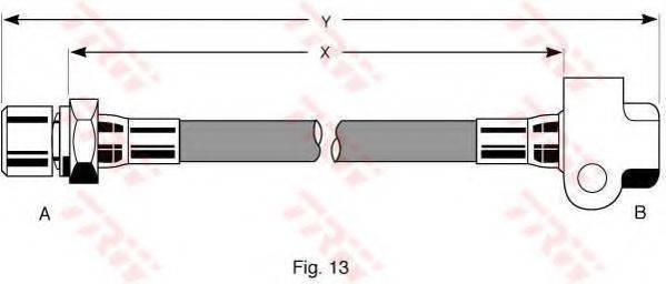 TRW PHA227 Тормозной шланг