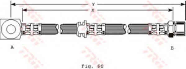 TRW PHD224 Тормозной шланг