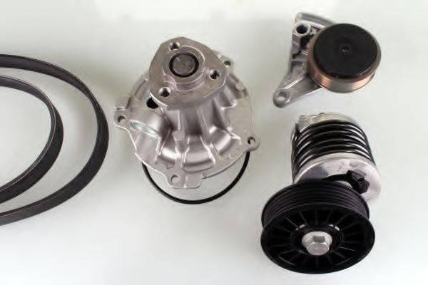 GK K980158D Водяной насос + комплект ручейковых ремней
