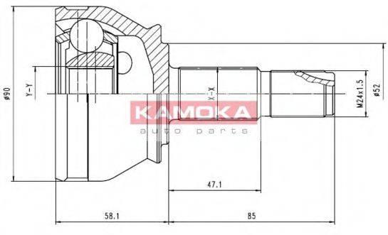 KAMOKA 7412 Шарнирный комплект, приводной вал