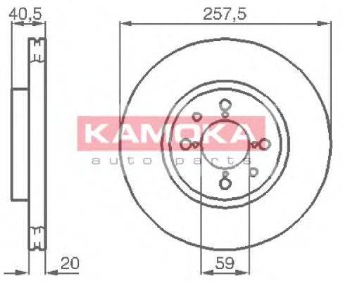 KAMOKA 1031042 Тормозной диск