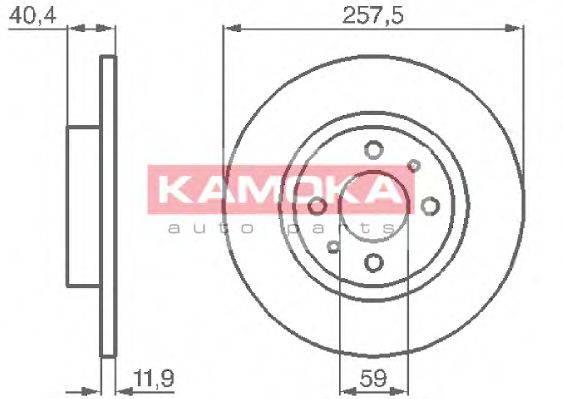 KAMOKA 103282 Тормозной диск