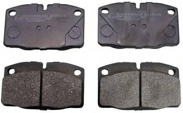 DENCKERMANN B110249 Комплект тормозных колодок, дисковый тормоз