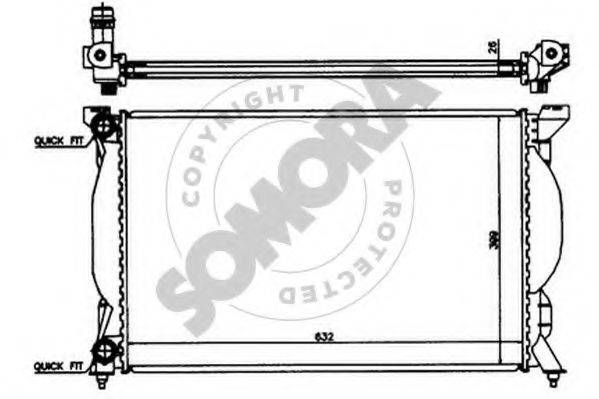 SOMORA 021540 Радиатор, охлаждение двигателя