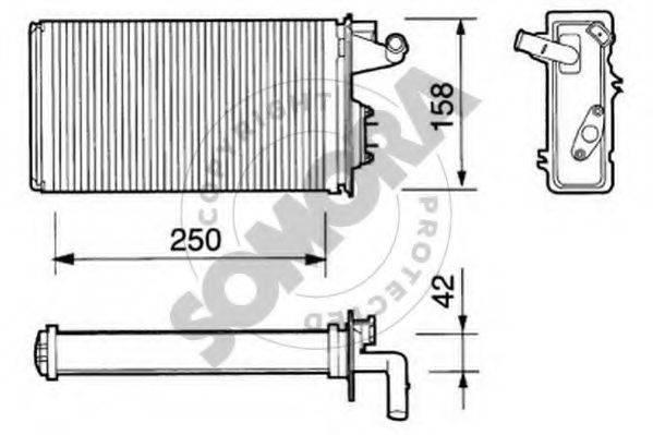 SOMORA 082050 Теплообменник, отопление салона