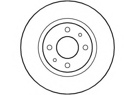 NATIONAL NBD120 Тормозной диск