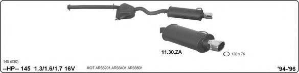 IMASAF 502000116 Система глушителя для спортивного автомобиля