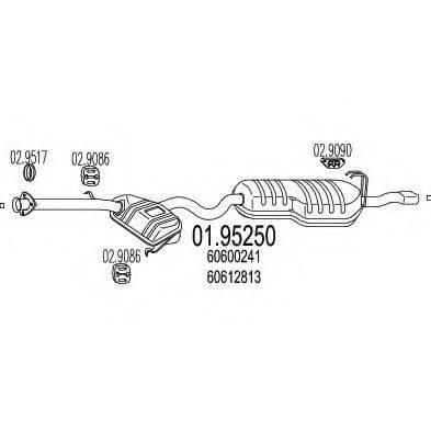 MTS 0195250 Глушитель выхлопных газов конечный