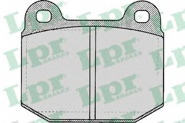 LPR 05P137 Комплект тормозных колодок, дисковый тормоз