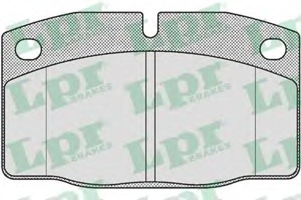 LPR 05P190 Комплект тормозных колодок, дисковый тормоз