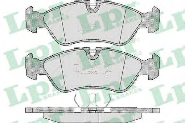 LPR 05P304 Комплект тормозных колодок, дисковый тормоз