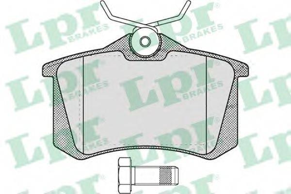 LPR 05P634 Комплект тормозных колодок, дисковый тормоз