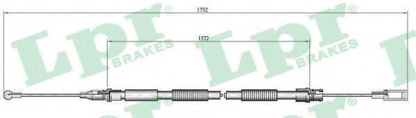 LPR C0007B Трос, стояночная тормозная система