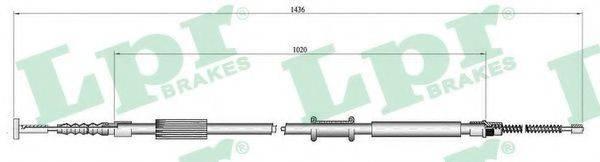 LPR C0015B Трос, стояночная тормозная система