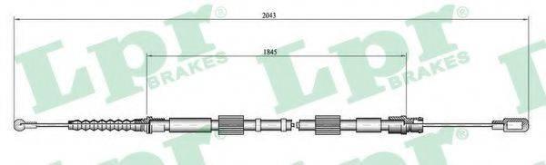LPR C0049B Трос, стояночная тормозная система